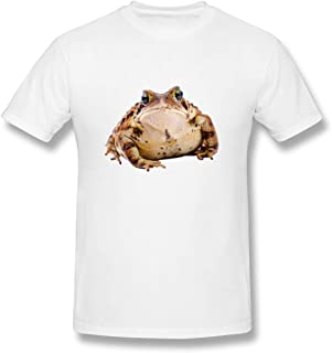 Louishollingsworth 100% Cotton Frog Amphibian Toad Store White Graphic Short Sleeve T-Shirt for Mens