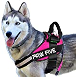 Paw Five CORE-1 Reflective Dog Harness with Built-in Waste Bag Dispenser Adjustable Padded
