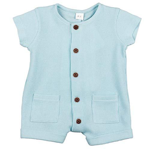 Top Top MORDAZ Mamelucos para bebés y niños pequeños, Azul, 9-12 Unisex bebé