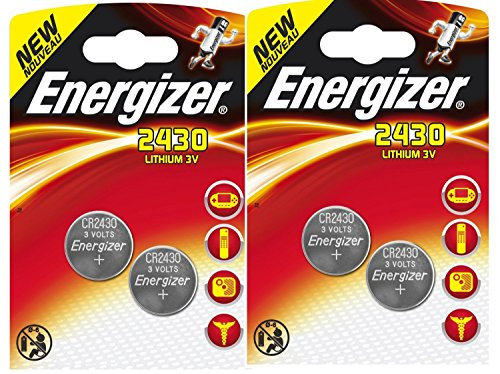 Lot DE 4 Piles ENERGIZER CR2430-2 Blister DE 2 - Lithium 3V