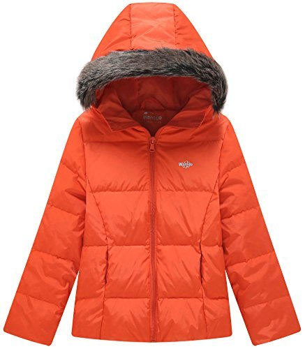 Wantdo Youth Puffy Coat for Girls Hooded Winter Coat Lightweight Down Padded Coat