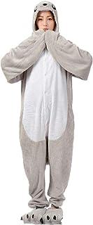 AYJMA Tier Pyjama Seelöwe Onesie Männer Frauen Erwachsene Kigurumis Grau Overall Overall Flanell Warme Weiche Winter Nachtwäsche