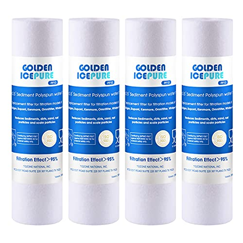 GOLDEN ICEPURE 5 Micron 10' x 2.5' Whole house Sediment Water Filter...