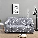 PPMP Fundas de sofá elásticas elásticas para Sala de Estar Funda elástica para Sala de Estar Funda de sofá seccional en Forma de L Funda de sillón de Esquina A22 3 plazas