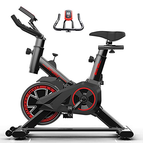 Cycling Bike Spinning Fiets Indoor, Silent Belt Drive Fitness Bike En Trainer, met 7-Function Monitor, Verstelbare Sturen & Seat, voor Living Room, Kantoor, Sportschool
