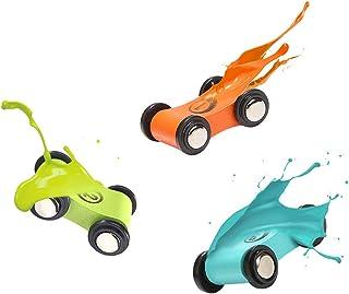 Car Gliding Ladder Car Race Track 4 Ramp Switchback Inertial Track Glider Ladder Toy Playset Boys