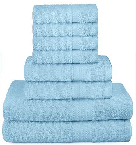 GLAMBURG - Juego 8 de toallas de uso diario