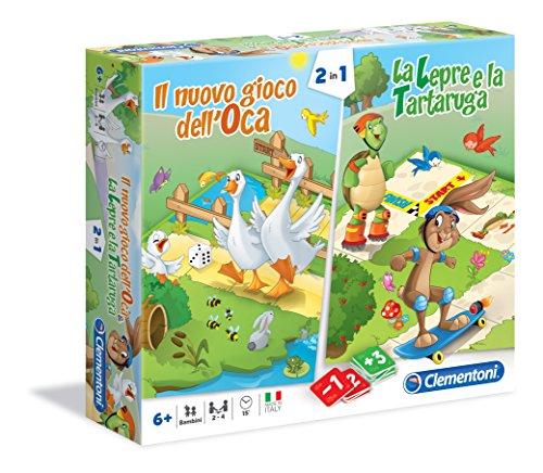 Clementoni - Oca e La Lepre e Tartaruga Giochi da Tavolo Colore Multicolore, 16065