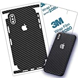 Carbon Fiber 3M Film for iPhone 7, 7 Plus, 8, 8 Plus Skin Wrap Protective Around Borders and Back Thin 3D Elegant Skin (iPhone 7 Plus)