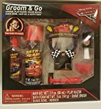 UPD Disney Cars 3 Groom & GO Mirror, Play Razor, Shave Brush, Shave Bowl, Hair Gel & Bath Foam, Pretend to Shave Bath Set
