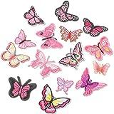 15 Parches de Plancha de Mariposa Apliques de Mariposa Rosa Parches de...