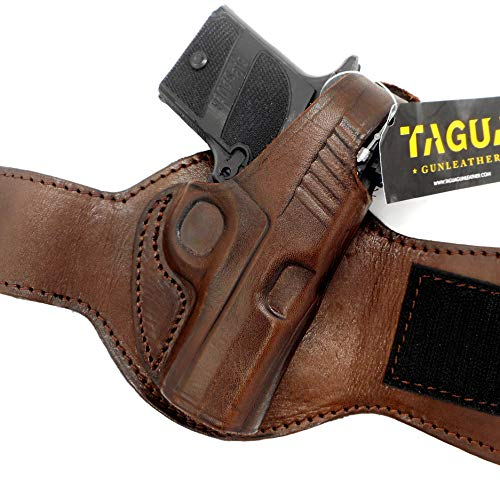 HOLSTERMART USA TAGUA Premium Dark Brown Leather Ankle Holster Right-Hand Draw for SIG SAUER P938