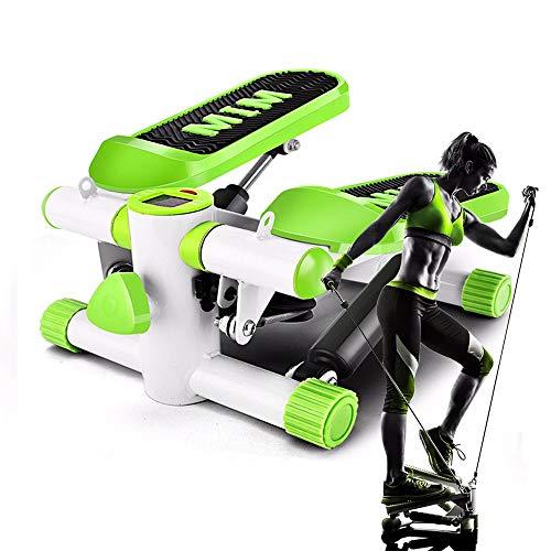 GWLGWL Mini-Fitnessgerät inkl, 2 in 1 Stepper Up-Down-Stepper mit Multifunktions-Display Fitnesstraining für Zuhause, Heimtrainer, Swingstepper, Bein- und Po-Training, Verschleißfrei