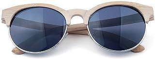 サングラス ファッション 女性 サングラス セミリムレス 偏光 竹 手作り 紫外線保護 運転 ビーチ サングラス
