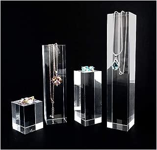 Svea Display For Fine Jewelry Clear Acrylic Blocks Platform Premium Grade Solid Squares Modern Concept Versatile Multi Function Trade Show Art Exhibit Gallery Set of 4 PCs
