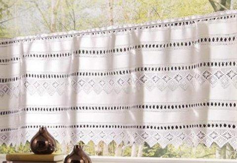 Panneaux Spitzingsee Gardine Hossner | 30x125 cm H/B | weiß | 100 % Baumwolle