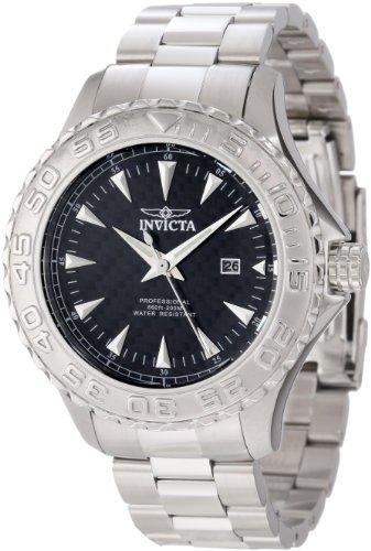 Invicta Men's 12554 Pro Diver Ocean Ghost Black Carbon Fiber Dial Stainless Steel Watch