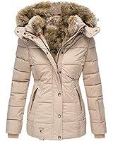 Remikstyt Womens Down Coats Winter Zipper Hooded Faux Fur Inside Parka Down Jackets (XX-Large,Pink)
