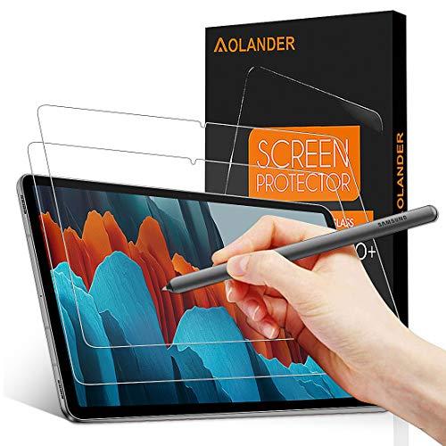 Povinmos per Samsung Galaxy Tab S7 Pellicola Protettiva Vetro Temperato Tablet, 9H Durezza Protezione dello schermo Screen Protector [Scratch Resistente] [Senza Bolle] Proteggi Schermo【2 Pack】