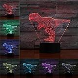Lampada 3D Illusion Night Light LED Dinosaur ns Decorazione della stanza Regali...