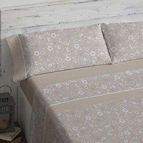 Burrito Blanco - Juego de sábanas 462 Piedra de cama de 150x190/200 cm