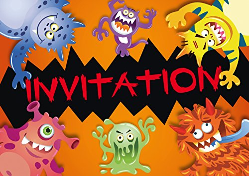 Edition Colibri 10969 FR - Biglietti di invito per Halloween e Montri Terribi in Francese, per un compleanno di bambini o per una parte dei 10 pezzi