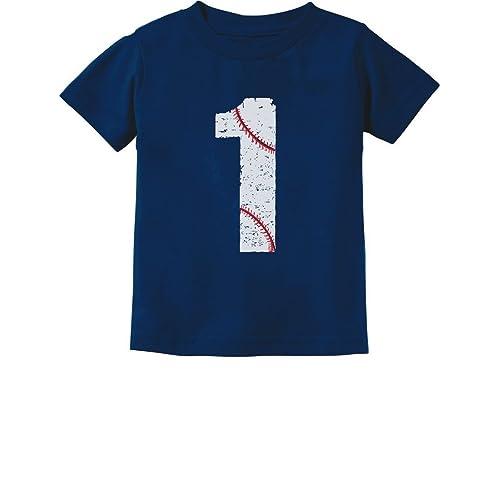 Baseball 1st Birthday Gift For One Year Old Infant Kids T Shirt 18M Navy