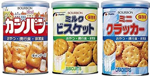 まとめ買い 災害用 非常食 保存食 備蓄 食料 3缶セット ハザードマップQRコード付 カンパン クラッカー ミルクビスケット Sevensails セット