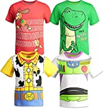 Disney Pixar Toy Story Boys 4 Pack T-Shirts Woody Buzz Lightyear Rex Slinky Dog 6