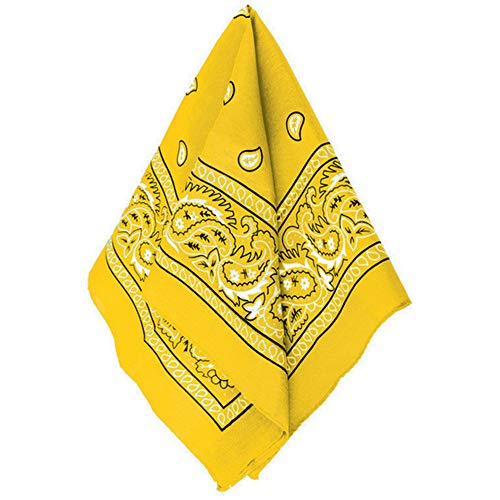 """Amscan all Paisley, Yellow, 20"""" x 20"""""""