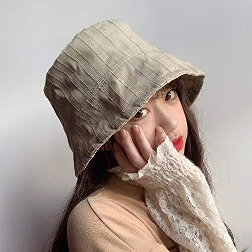 La Nueva Primavera de Doble Cara Que Lleva a Rayas del Sombrero del Cubo Estudiante Ocasional Salvaje Femenina de Corea del Sombrero de Pescador Marea Casquillo del Lavabo Japonesa ACDES
