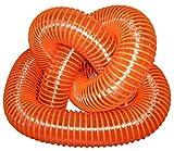 Orange Leaf Vacuum Collection Yard Hose (6 Inch ID) | Clear Urethane .030' Wall (Multiple Cut Length) (6x14)