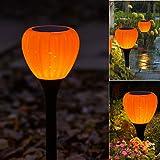 Solar Lights Outdoor Garden,Pumpkin Halloween Solar Powered Garden Lights, LED Pathway Lighting for Patio, Lawn,Yard,Walkway,Driveway