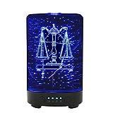 hjbds Difusor de aromaterapia 3D Constellation Aroma Difusor Esencial Humidificador de Aire para el hogar 100Ml Libra Ultrasonic Mist Maker Fogger con lámpara de Noche LED,
