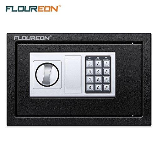 Caja Fuerte de Seguridad, FLOUREON 8.5L Cerradura de Teclado