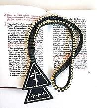 Russian Orthodox Old Believers lestovka 103 steps - Rosary leather for men - Orthodox prayer rope - prayer beads Crucifix - chetki