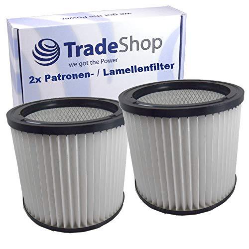 2x Rundfilter Lamellenfilter Patrone für Mauk NTS Nass- Trockensauger 20l 1200W NTS Nass- Trockensauger 30l 1200W NTS 20 / Staubsauger Akkusauger