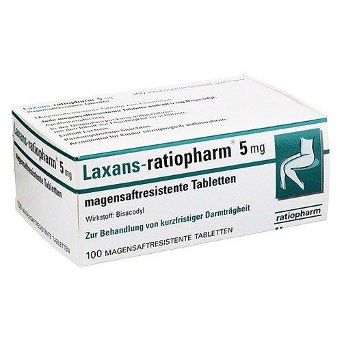 LAXANS ratiopharm 5 mg magensaftres.Tabletten 100 St Tabletten magensaftresistent