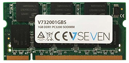V7 V732001GBS Notebook DDR1 SO-DIMM Arbeitsspeicher 1GB (400MHZ, CL3, PC3200, 200pin, 2.6 Volt)