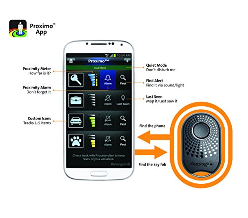 Kensington K97150EU Proximo Fob Schlüsselanhänger Schutz für Apple/Samsung