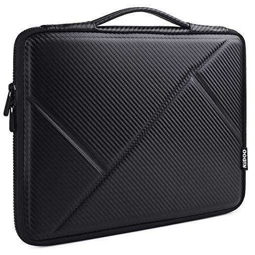 "NIDOO 15,6"" Laptop Tasche Sleeve Hülle Eva Aktentasche für 15.6"" Lenovo Yoga Chromebook/Ideapad 330 330S / ThinkPad E585 E595 T580 / 15.6"" HP EliteBook 755 G5 / 15.6"" Neu Dell Inspiron 15, Schwarz"