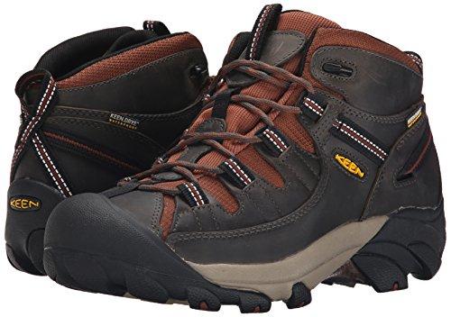 KEEN Men's Targhee II Waterproof Mid Hiking Boot, Raven/Tortoise Shell, 7 M US
