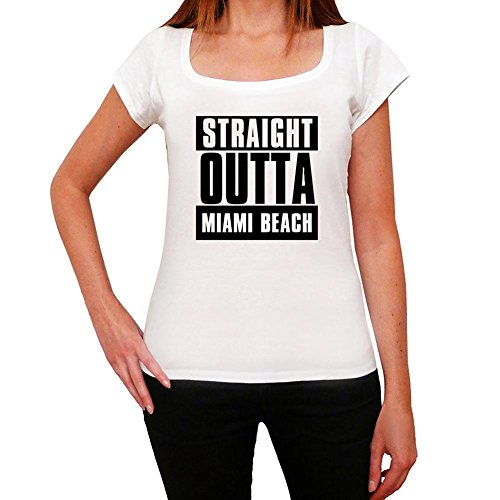 One in the City Straight Outta Miami Beach, Camiseta para Mujer, Straight Outta Camiseta, Camiseta Regalo