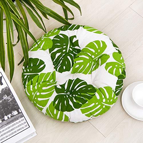 Juego de 4 cojines de asiento para silla de 40 x 40 cm, cojín para silla de jardín, balcón, terraza, asiento de jardín, (redondo, b) 🔥