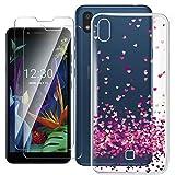 HYMY Hülle für LG K20 2019 Smartphone + 2 x Schutzfolie Panzerglas - Transparent Schutzhülle TPU Handytasche Tasche Durchsichtig Klar Silikon Hülle für LG K20 2019 (5.45