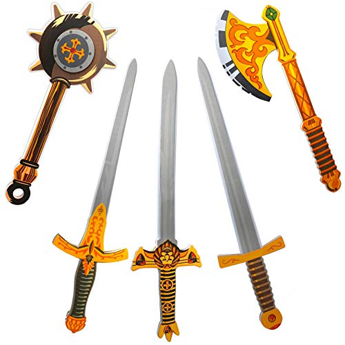 Foam Sword Wide Blade Gold Decoration 65 Novelty Toy Weapon