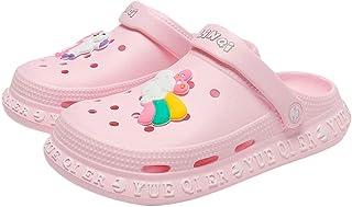 Hopscotch Baby Girls EVA Unicorn Applique Clogs in Pink Color