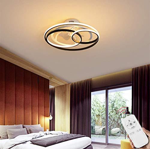SLZ Fan Deckenlampe Mit LED Beleuchtung Fernbedienung Leise Ventilator Lüfter Dimmbarer Deckenventilator Unsichtbare Beleuchtung Für Kinderzimmer Wohnzimmer Schlafzimmer,58cm