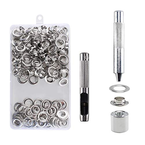 Kit Ojetes Metalicos 10mm HO2NLE 100Pcs Ojales Metalicos
