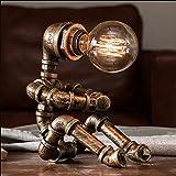 BRIGHTER Roboter Steampunk Vintage Tischlampe, Retro Industrie Eisen Shisha Tischleuchte für...